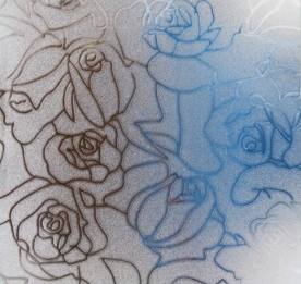 Fönsterfilm /Insynsskydd -Roses -Metervara -bredd 90 cm