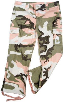 Rock the dog Girls Vintage Capris -Pink Camo