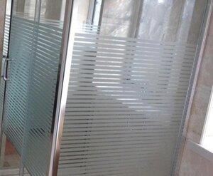 Fönsterfilm /Insynsskydd -Stripe frostad/klar