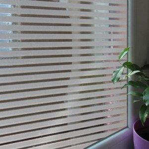 Fönsterfilm /Insynsskydd -Stripe frostad/klar -Metervara