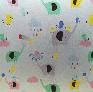 Fönsterfilm /Insynsskydd -Elefanter -Metervara -bredd 90 cm