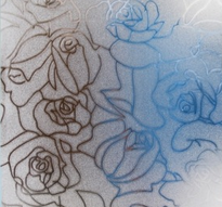 Fönsterfilm /Insynsskydd -Roses