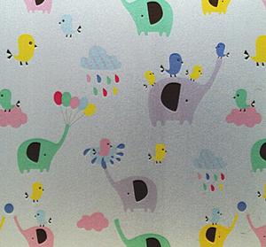 Fönsterfilm /Insynsskydd -Elefanter
