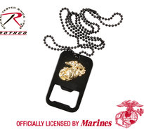 Dogtag med öppnare, Svart -Officiellt licenserad av US Marines