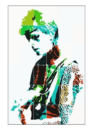 Bowie PopArt tavlor