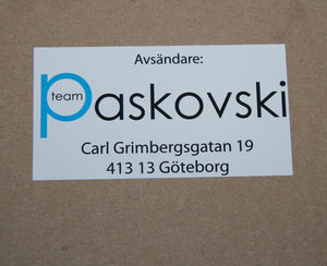 Klistermärken på ark -6,5 cm x 4 cm stora