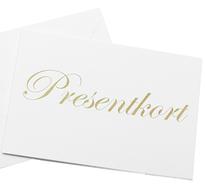 Presentkort i olika valörer från 150 kr till 1000 kr