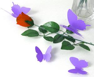 3D Fjärilsdekor -Lila
