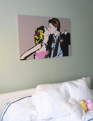 Cartoon Warhol  - omgjord för hand