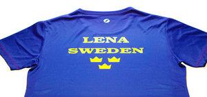 Sverigetröja med DITT namn -Vi trycker på tröja som du skickar till oss