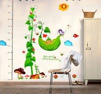 Väggdekor -Mätsticka med motiv av bl.a. en Pumpa och svampar, 120 x 115 cm