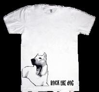 Vit Herdehund vuxen t-shirt