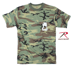 Rock the dog Kids T-shirt -Camo