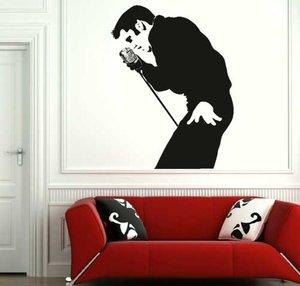 Väggdekor -Elvis 67 x 90 cm, svart dekor