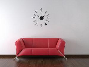 Klocka med vinyldekor -Art Graphics