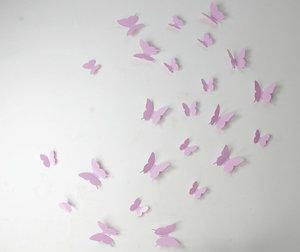 3D Fjärilsdekor -Rosa