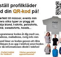 Profilkläder med din QR-kod på