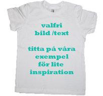 Barn T-shirt med Ditt eget tryck