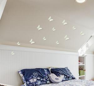 3D Fjärilsdekor -Fluorecerande