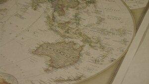 Retro Världskarta