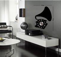 Klocka med vinyldekor -Grammofon