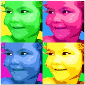 4 - Warhol -omgjord för hand