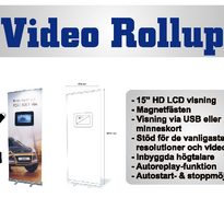Video Rollup -85 x 200 cm